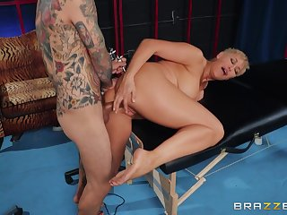 Bewitching Ryan Keely's big tits are on publish during a daring dicking