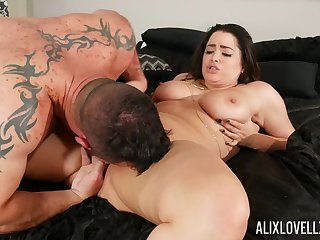 Curvy dame is minutes from having her soaked pussy demolished