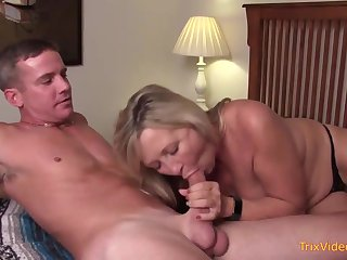 Mischievous mother and her roguish step- sonny are pulverizing in the bedroom, once in a space fully