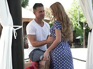 Dear girlfriend Kaisa Nord sucks and gets fucked in outdoors