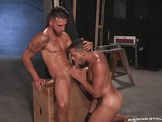 Muscular FX Rios increased by Max Gianni's oral increased by anal pleasures
