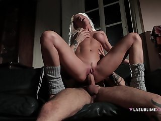 Nude whore rides like a goddess until the sperm hits her hard