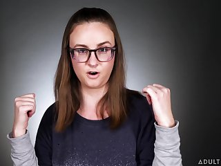 Cross-eyed nerdy Court jester Taylor tells about the first time masturbating