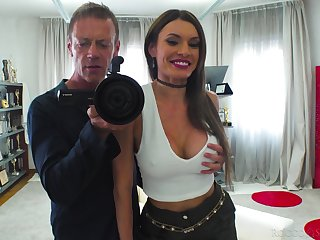 Marvelous busty whore Kitana Supplicate is brutally fucked doggy style