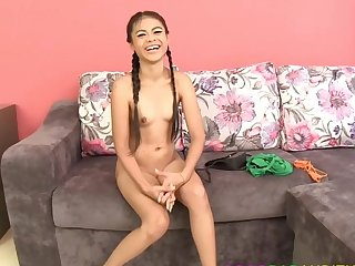 Thai whore fucked at her interview yon evolve into a dancer