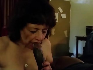 This grandma really love drag inflate bbc added to tipple his cum