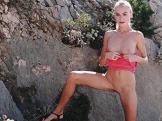 Princess Nancy A drops her panties alongside play in the outdoors