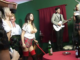 A smoking hot orgy with Victoria Rush and pinch-hitter blistering bombshells