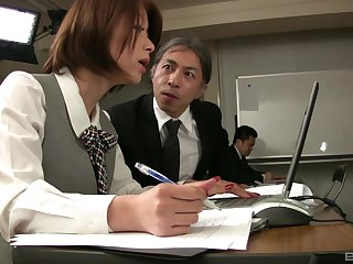 Addictive sex scenes with a horny Asian stewardess