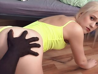 Hostel Interracial Sex With Gorgeous Blond Hair Skirt