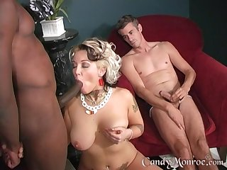 Cast off interracial fucking between wed Sweetmeats Monroe and a BBC